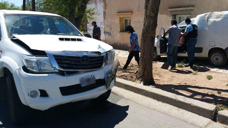 Choque entre dos camionetas dejó a una mujer embarazada en el hospital