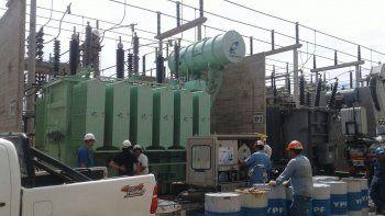 El transformador fue probado y conectado anoche en la Estación Alto Valle.