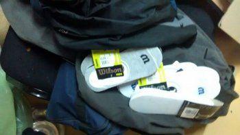 En la casa de los acusados se encontraron los bolsos con la ropa.