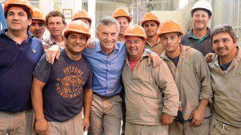 El presidente recorrió las obras de agua potable hechas en Entre Ríos.