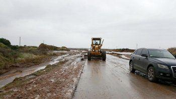 Challacó: la lluvia trajo nuevas complicaciones en la Ruta 22