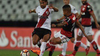 River logró un agónico y valioso punto en su debut en Brasil