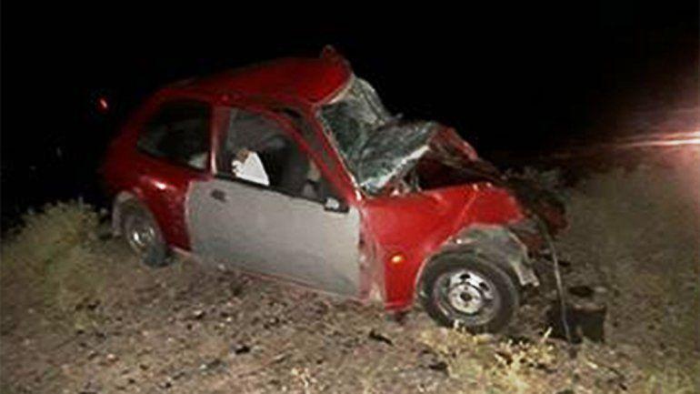 Senillosa: dos hombres murieron en un tremendo choque frontal sobre la Ruta 22