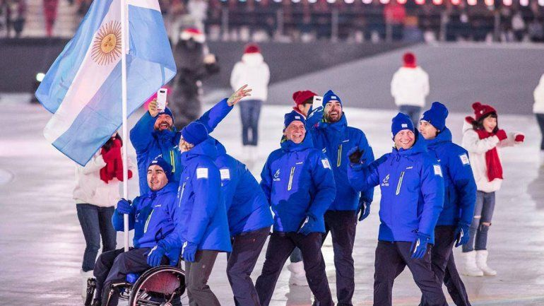Orgullo: neuquino fue abanderado de la delegación argentina en los Juegos Paralímpicos
