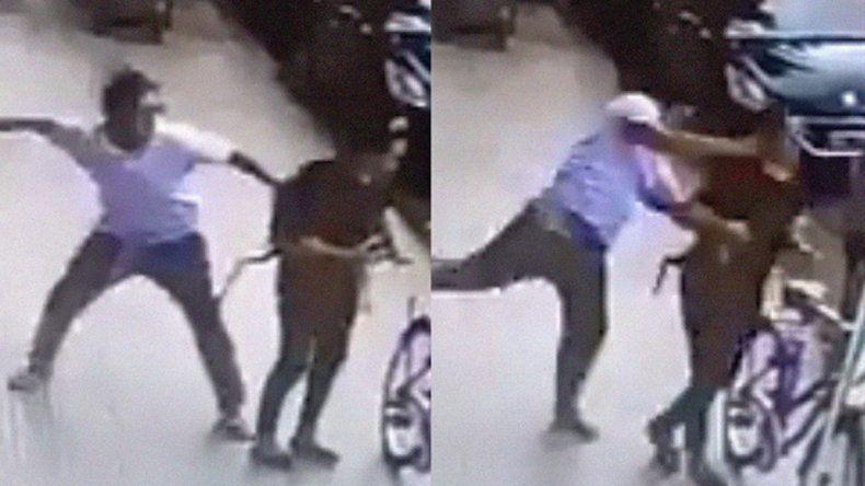 Brutal agresión: un hombre golpeó a una mujer a plena luz del día