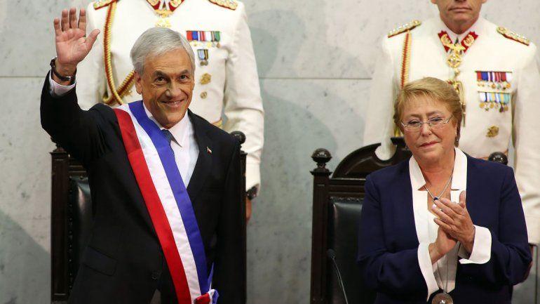 El líder conservador juró ayer como presidente en la sede del Congreso Nacional en el puerto de Valparaíso.