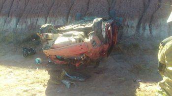 Salían del TC y volcaron en la autovía Norte: dos heridos