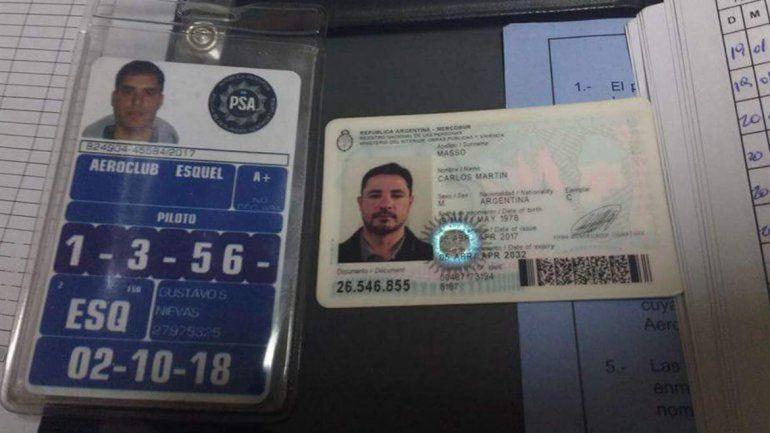 Vinieron a rendir la licencia para piloto y les robaron los papeles de vuelo