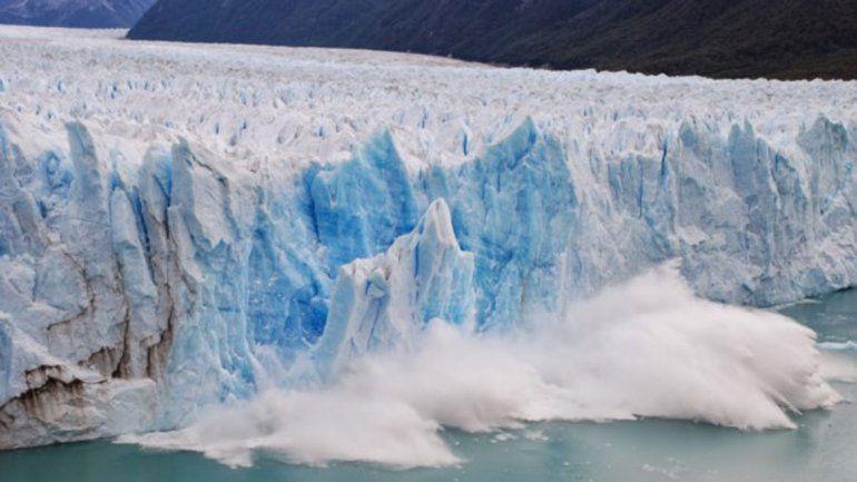 La ruptura del Perito Moreno provocó  un tsunami que inundó El Calafate