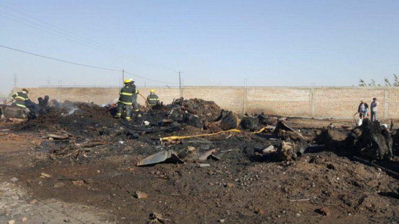 Ayer por la tarde se incendió una parcela en la zona de la meseta.