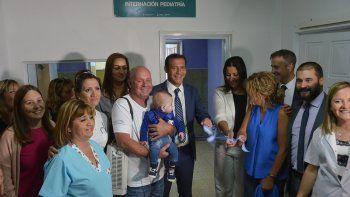 Reabrió el sector de pediatría del hospital Bouquet Roldán