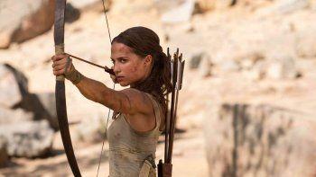 Tras los films con Jolie, Vikander busca reflotar la franquicia Tomb Raider.