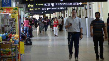 en febrero pasaron  por la terminal 165.000 pasajeros