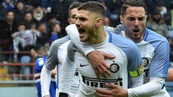 Icardi tuvo un partido soñado y le metió 4 a la Sampdoria
