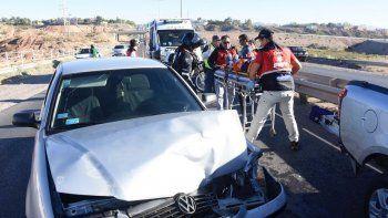 Choque en cadena en Ruta 7: una herida y autos destruidos