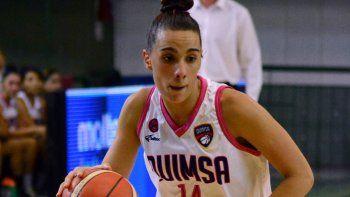 La China Lara suma minutos importantes en la Liga Nacional de básquet.