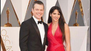 El actor junto a su esposa argentina, Luciana Barroso.