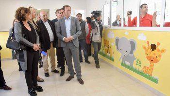 Gutiérrez inauguró el jardín maternal del hospital Heller