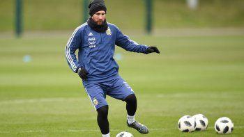 El golazo de Lio Messi en la práctica de la Selección