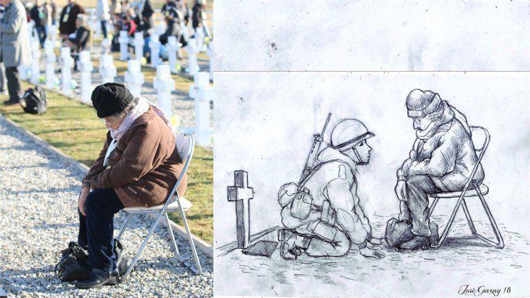 El emotivo dibujo de un soldado de Malvinas con su mamá que se hizo viral