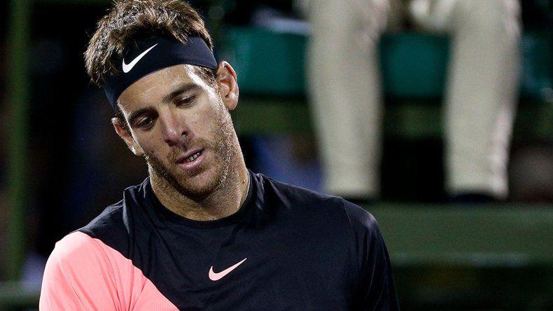 Del Potro se retiró por lesión en el ATP de Roma