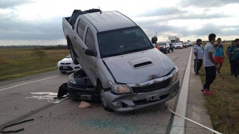 Espectacular choque en la autopista Córdoba-Rosario