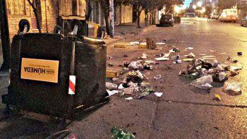 Una noche de furia para los vándalos de la basura