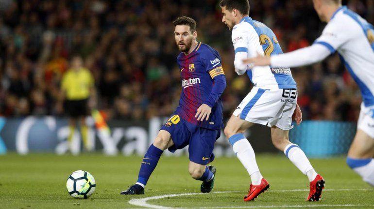 Triplete de Messi para el triunfo de Barcelona ante Leganés