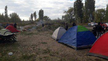 Valentina Sur: se levantó la toma próxima al río Limay
