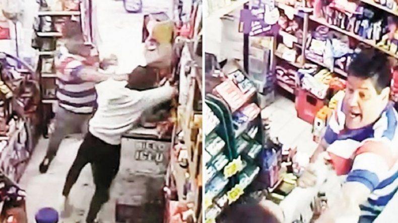 Atacó salvajemente a una kiosquera porque no le aceptó un billete de 2 pesos