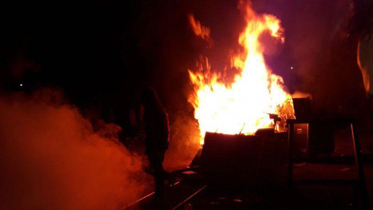 Los disturbios comenzaron pasada la medianoche