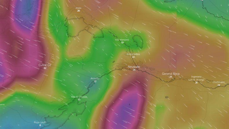 Los fuertes vientos ya se hacen sentir en el Alto Valle