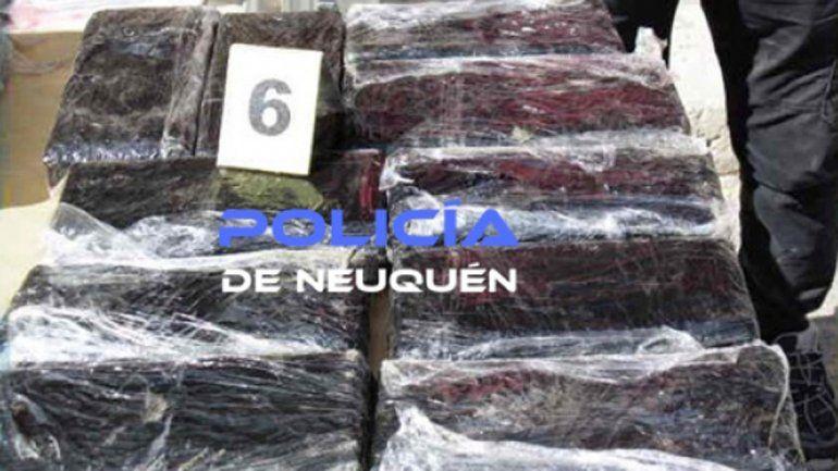 Secuestran 38 kilos de marihuana que venían a Neuquén