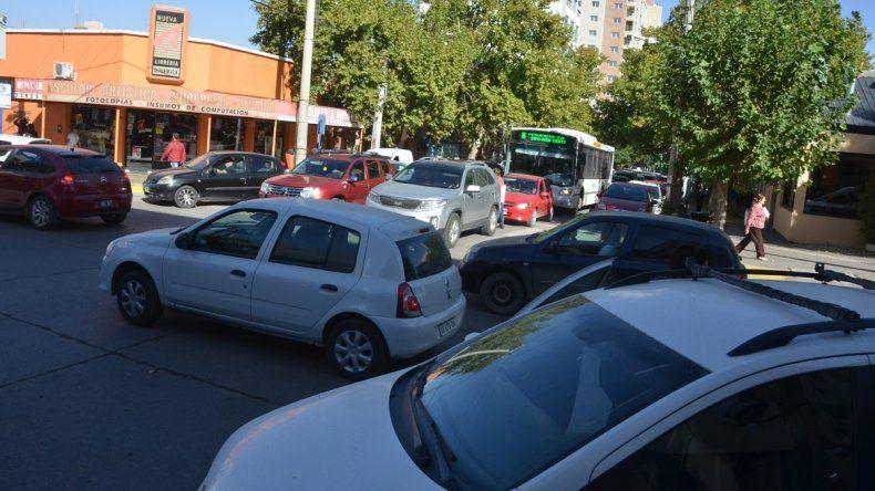 El acampe docente complicó el tránsito en Casa de Gobierno