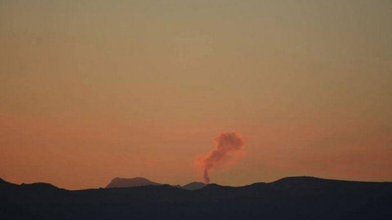 Gendarmería realiza tareas preventivas ante el alerta naranja del volcán Chillán