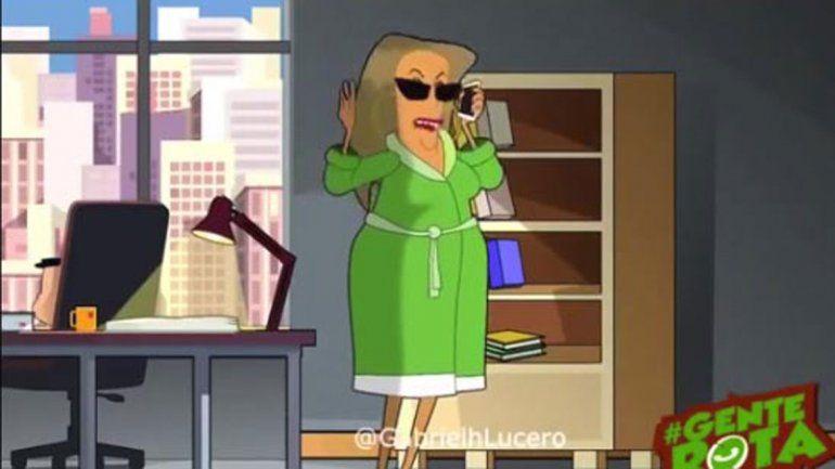 La animación de Gabriel Lucero que ayer se expandió por Whatsaspp.