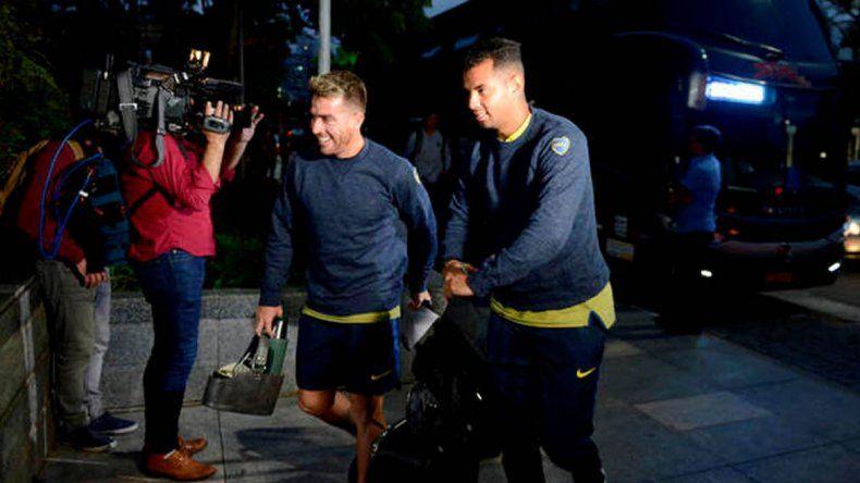 El plantel xeneize llegó ayer a Brasil y de inmediato puso la cabeza en uno de los partidos más duros de la zona.