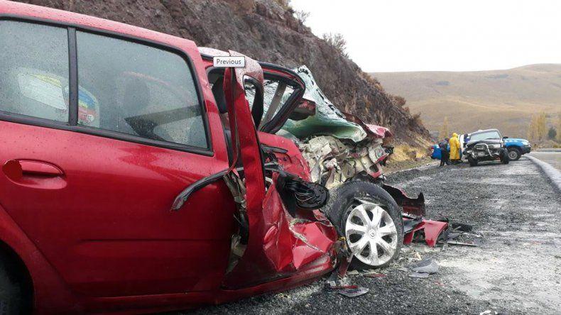 Durante el temporal de viento, hubo siete heridos en dos accidentes en el sur provincial
