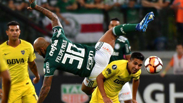 Boca empata con Palmeiras en San Pablo