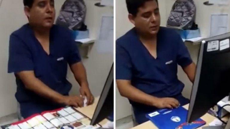 Ocurrió en Perú: el médico fue increpado por un paciente.