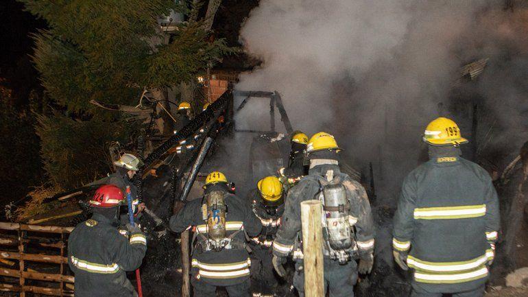 Ardió una casilla en San Martín de los Andes