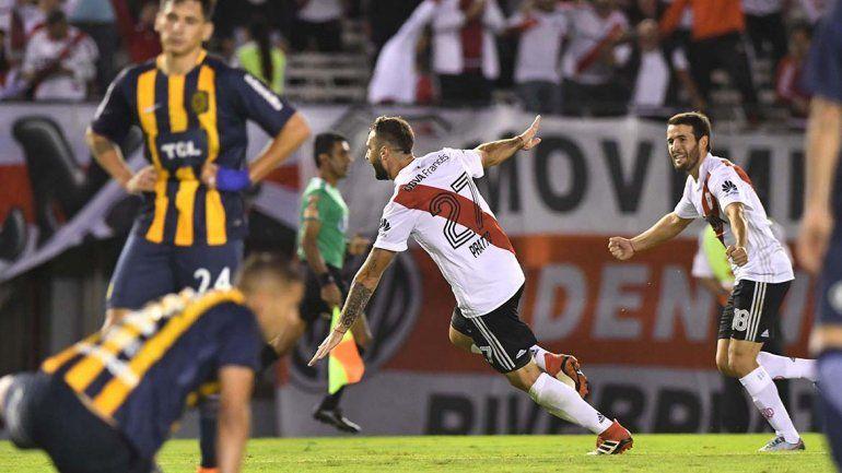 Santos Borré y Pratto le dieron la victoria a River ante Central