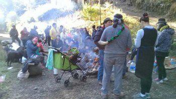 mapuches tomaron un loteo privado en resguardo