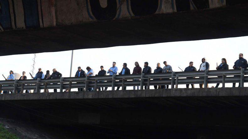 Caos de tránsito en la General Paz por el asesinato de un colectivero