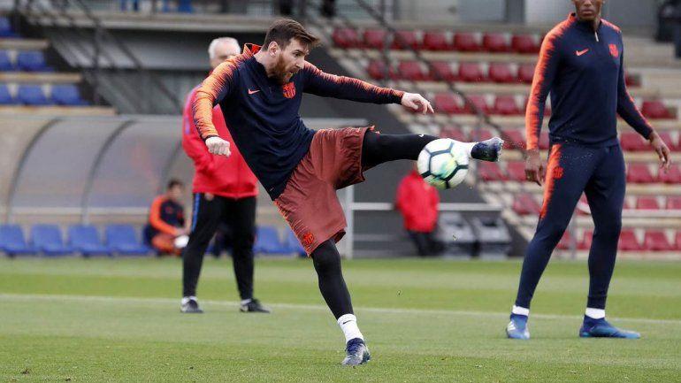 A Leo lo guardan para la definición de la Copa del Rey del sábado.