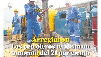 los petroleros tendran un aumento del 21 por ciento