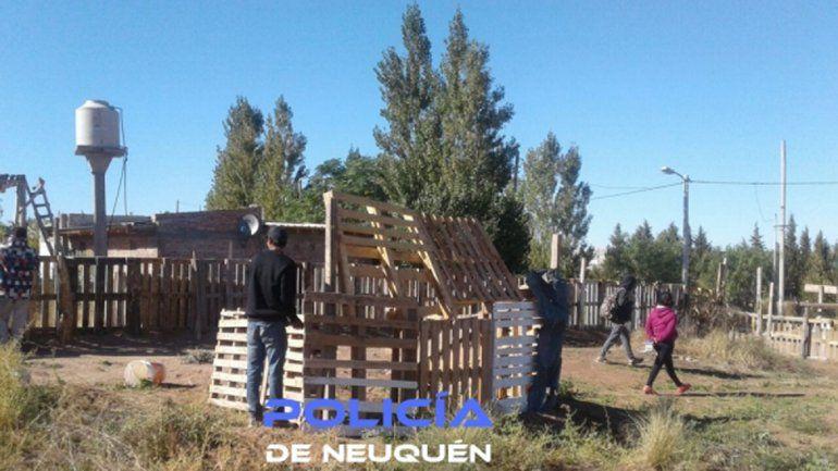 La Policía desalojó una toma en un terreno de Valentina Norte Rural