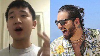Un chino imita a Maluma y causa furor con sus hits