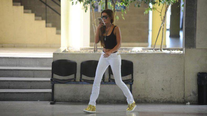Natacha el lunes se presentó en los tribunales de Avellaneda