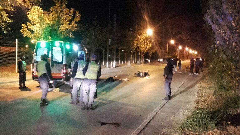 Murió la joven del choque entre motos en Valentina Sur